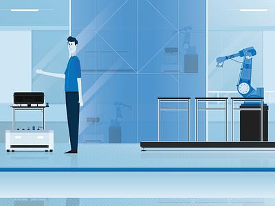 High-Tech | Visual Design high-tech blue explainer video explainer animation 2d design visual design vector illustration animation 2d animation