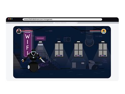 Robotman | Fight Game | Visuals robots game streetfighter explainer animation explainer video 2d design animation 2d animation visual design vector illustration