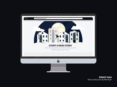 Robotman | Animation Visuals music robots data explainer animation explainer video 2d design animation 2d animation visual design vector illustration