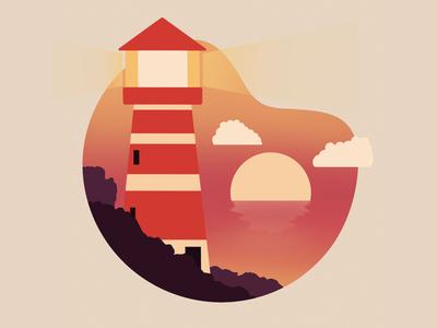 Procreate lighthouse illustration lighthouse artwork procreate art poster grafik grafic vector illustration graphic design