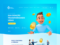 Troco Solidário - Redesing gradient flat blue user interface ong redesign site webdesign uxui interface