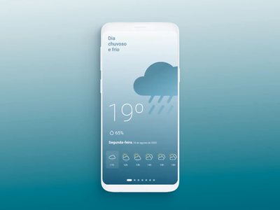 Weather App minimal white space clima previsão do tempo application app weather forecast uiux mobile animation interaction flat ui interface