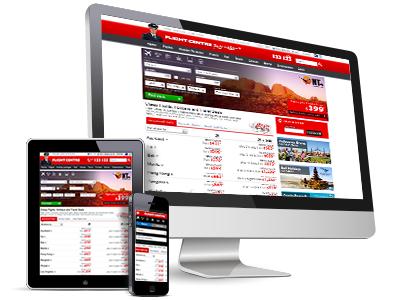 Flight Centre Australia responsive homepage redesign travel responsive interaction design interface design