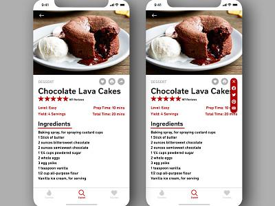 """Daily UI 010 - """"Social Share"""" daily ui challenge 010 daily ui 010 food app recipe app social share app design daily ui ui dailyuichallenge dailyui"""