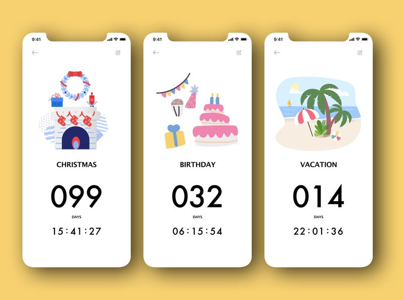 "Daily UI 014 - ""Countdown Timer"" timer app countdown timer countdown countdowntimer 014 illustration daily ui challenge app design daily ui ui dailyuichallenge dailyui"