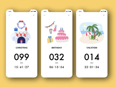 "Daily UI 014 - ""Countdown Timer"" timer app countdown timer countdown countdowntimer 014 illustration daily ui challenge app design daily ui ui dailyuichallenge dailyui"