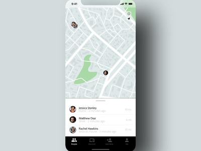"""Daily UI 020 - """"LocationTracker"""" iphone ios find friends location tracker 020 app daily ui challenge design daily ui ui dailyuichallenge dailyui"""