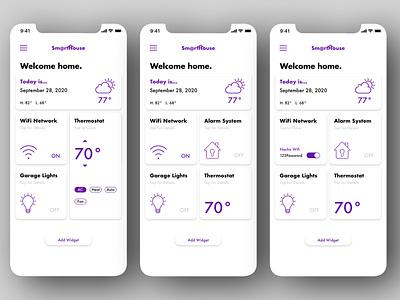 "Daily UI 021 - ""Home Monitoring Dashboard"" smart home smart home app home monitoring dashboard 021 app daily ui challenge design daily ui ui dailyuichallenge dailyui"