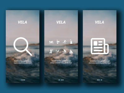 "Daily UI 023 - ""Onboarding"" 023 vela weather app onboarding screens onboarding ui onboarding ios app daily ui challenge design daily ui ui dailyuichallenge dailyui"