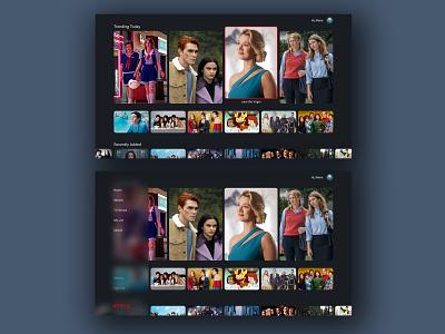 "Daily UI 025 - ""TV App"" 025 tv app netflix app daily ui challenge design daily ui ui dailyuichallenge dailyui"