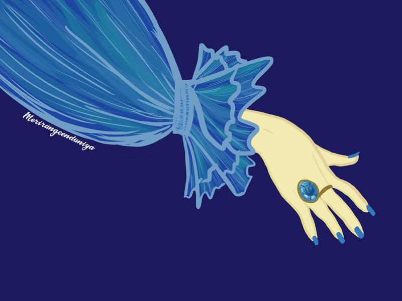 Aquamarine jewellerydesign jewellery antique illustrator illustration colorful