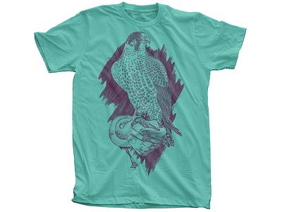 Falcon Shirt falcon shirt tee t-shirt glove foe paws raptor hawk eagle stipple watercolor hatching