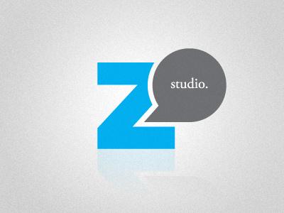 Logo for Zed Said Studio logo identity mark brand branding blue gray speech bubble z zed