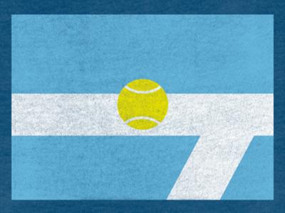 Argentina Tennis Flag argentina flag tennis tennis ball line court tournament minimalist minimalism