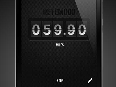 Retemodo - Reverse Odometer app iphone ui gps simple ios lowkey flip numbers countdown