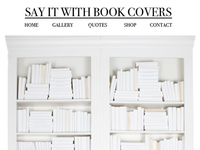 Say it with Book Covers Website UI