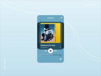 Daily UI - Music Player art musician jacob banks blue skip song songs music player player music daily ui challenge ux design uxdesign uiux ui design uidesign daily ui dailyui daily 100 challenge app design