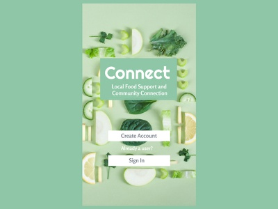 Connect: Local Food Support and Community Connection community food app design ux figma ui