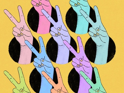 Peace and Unity procreate peace sign wishing for peace unity peace society6 women in illustration isolation creation digital art artwork illustration draw everyday