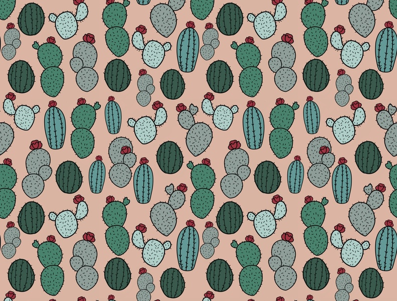 Cactus. Pattern Illustration digital art society6 illustration artwork draw everyday patents cactus design plant art nature cactus plants drawing cactus illustration cactus art pattern art pattern pattern design