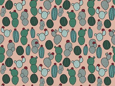 Cactus. Pattern Illustration digital art society6 illustration artwork draw everyday patents cactus design plant art nature cactus plants drawing cactus illustration cactus art pattern art pattern pattern design