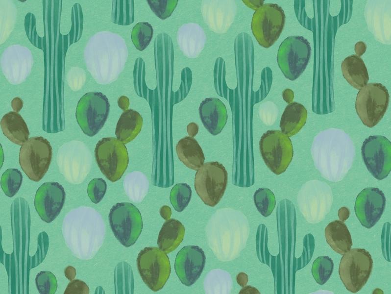 Cactus Pattern pattern illustration pattern art plants surface design pattern design digital art artwork illustration cactus cactus pattern