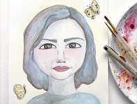 Miho Hirano artist women who inspire inspired watercolor drawing portraits portrait project inspired by these women illustration project artwork draw everyday women in illustration illustration