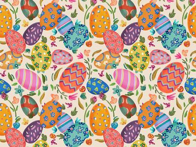 Egg Pattern colorful illustration pattern design digital art colorful egg pattern easter eggs spring easter