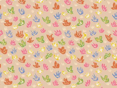 Pastel Pattern pattern design colorful floral pattern pattern procreate design artwork illustration