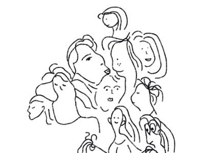Face Shapes black and white lines shapes procreate artwork illustration