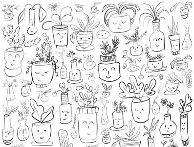 Plant Pattern plant pattern pattern plants artwork draw everyday illustration
