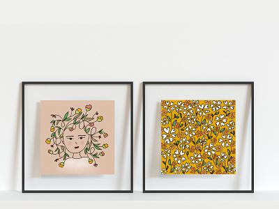 Mix & Match Prints drawings artprints flowers print pattern procreate digital art artwork illustration