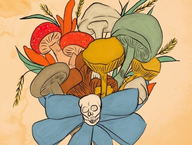 Poison - #frightfall2021 drawing poisonous nature fungi mushrooms halloween poison digital art procreate artwork illustration