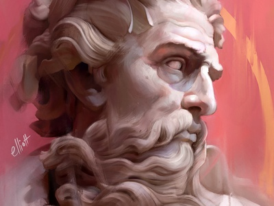 Neptune Procreate Painting