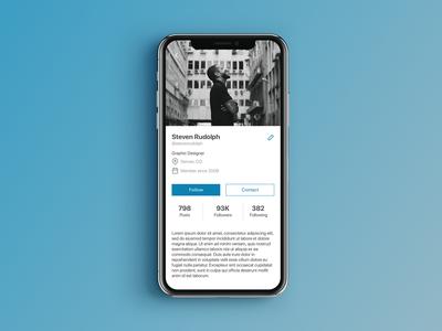 Daily UI 006 - User Profile