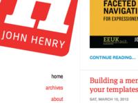 John Henry's Blog design
