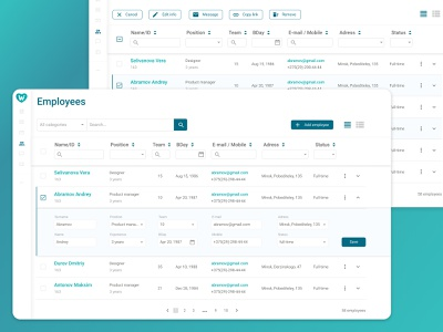 Table to dribbble searchable columns component filters data visualization tables table web design ux design ui ux