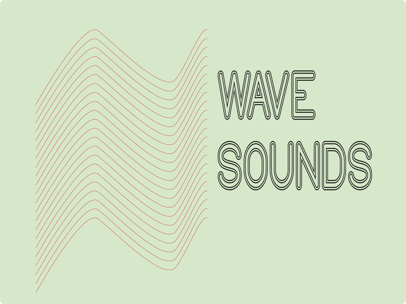 WAVE SOUNDS branding design logo
