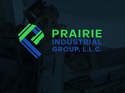 Prairie Industrial Group Logo shawnee kansas illustrator industrial plumbing create design logo business