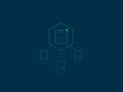 Flow Illustration switchboard graph illustration icons