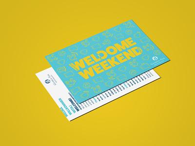 Welcome Weekend Campaign - George Fox University flat typography illustrator illustration vector design branding