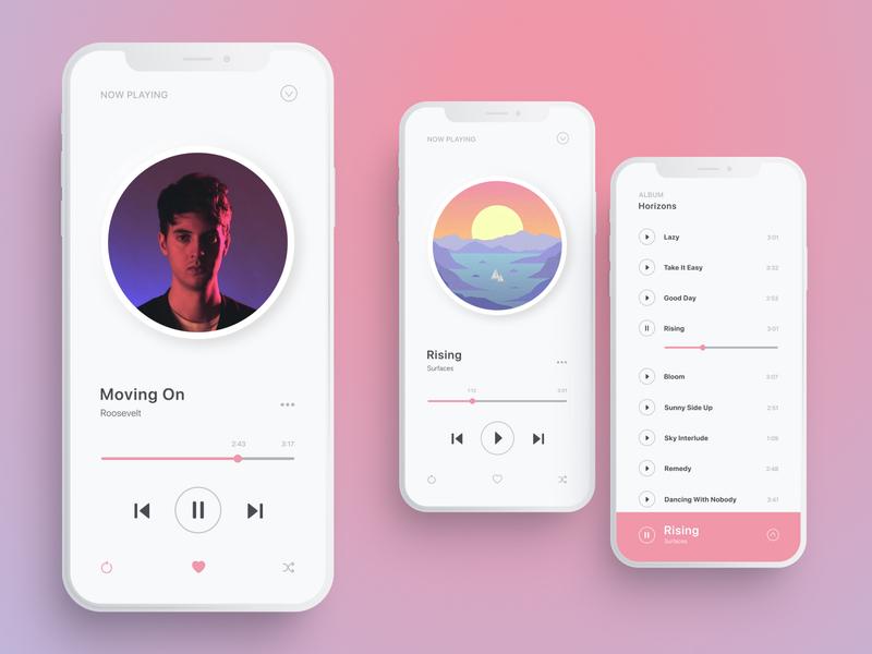⚡️Minimalistic music player minimalism figma app player ui