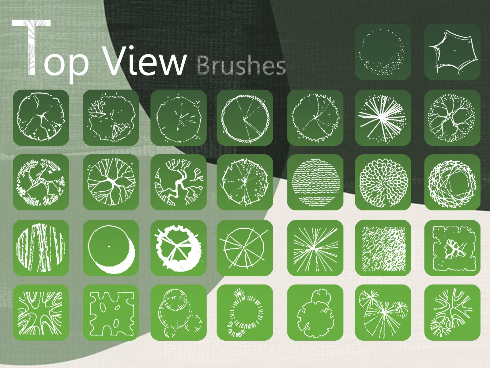trees top view brushes for landscape design by starchi on dribbble trees top view brushes for landscape