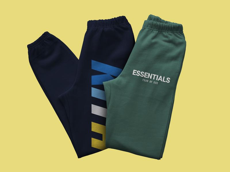 Premium Sweatpants Mockup fear of god kith sweatshirt sweatpants mockup sweatpants apparel mockup apparel design apparel mockup psd mockup