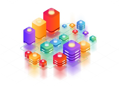 Isometric Server Illustration