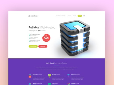 Cocohost #2 green hosting template promo server cloud hosting coco