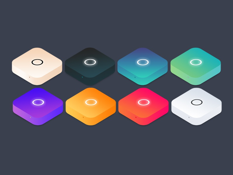 Mac Mini Illustrations gradient isometric illustration mini mac