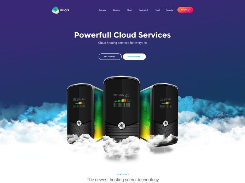 Cloud Hosting Page desktop server servers cloud hosting web hosting cloud