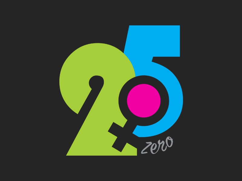 25Zero Logo Design zero logo girl logo woman logo blue logo green logo 25 logo 5 logo 2 logo 25 logo logo alphabet logo design