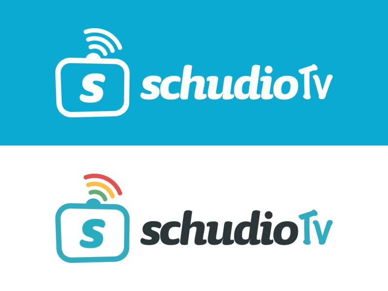 SchudioTv Logo Design logo inspirations tv tv logo logo tv logo design logo